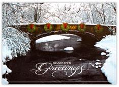 Wreaths on a Bridge Holiday Card