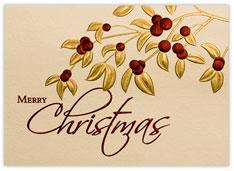 Burgundy Berries Christmas Card