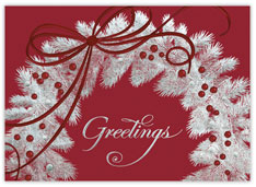 Sterling Wreath Holiday Card