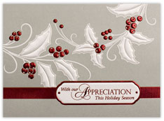 Holly & Berries Appreciation Holiday Card