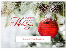 1040 Ornament Accountant Holiday Card