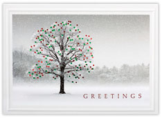 Tree of Red & Green Holiday Card