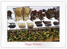 Snowy Boots Holiday Card