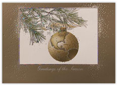 Golden Globe Ornament Card