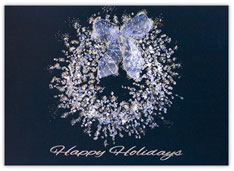 Stunning Silver Wreath Holiday