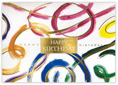 Birthday Swirls Birthday Card