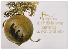Christian Christmas Greeting Card