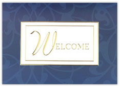 Gilded Welcome Card