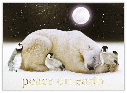 Peace on Earth Polar Bear - Peace from CardsDirect