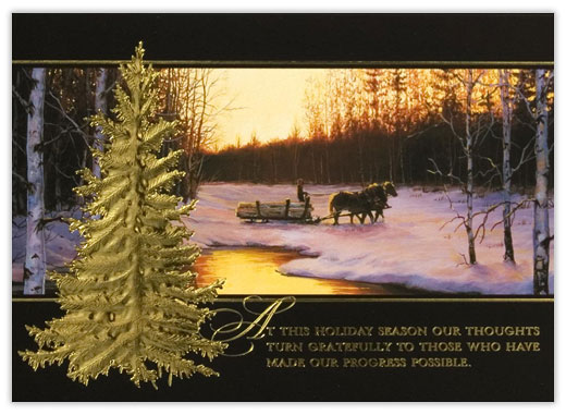 Peaceful Scene Holiday Card - Customer Appreciation from CardsDirect
