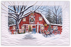 Antiquing Barn Holiday Card