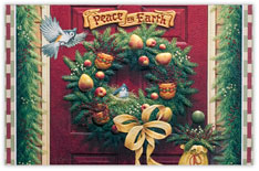 Welcome Wreath Holiday Card