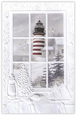 Lighthouse Holiday Card
