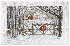 Heavy Embossed Winter Scene