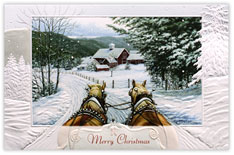 Clydesdales Jingle All The Way Christmas Card