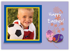 Floral Easter Egg Photo Card