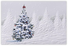 Decorated Tree Christmas Card