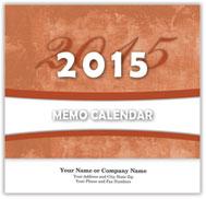 Memo Wall Calendar - Stapled