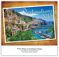 Destinations Wall Calendar - Stapled