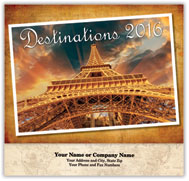 Destinations Stapled Wall Calendar