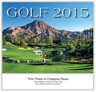 Golf Wall Calendar - Stapled