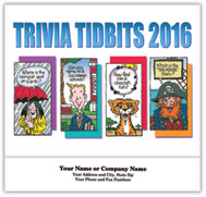 Fun Trivia Cartoon Stapled Calendar