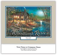 Woodland Retreat Wall Calendar - Stitched