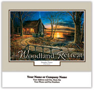 Woodland Retreat Stapled Wall Calendar