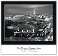 Black & White Wall Calendar - Stapled