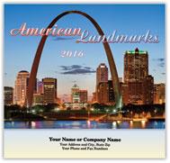 USA Landmarks Stapled Calendar