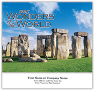 Wonders of the World Wall Calendar - Stitched