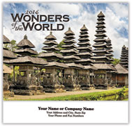 Wonders of the World Stapled Wall Calendar