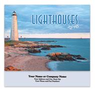 Lighthouses Stapled Wall Calendar