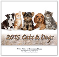Cats & Dogs Wall Calendar - Stitched