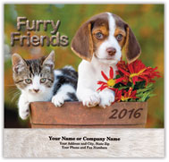 Cats and Dogs Stapled Wall Calendar