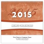 Memo Wall Calendar - Spiraled