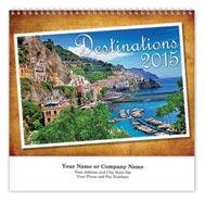 Destinations Wall Calendar - Spiraled