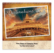 Destinations Spiral Wall Calendar