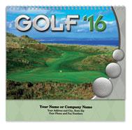 Golf Spiral Wall Calendar
