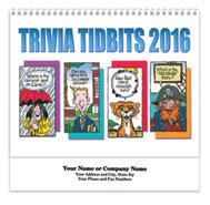 Trivia Tidbits Spiral Wall Calendar