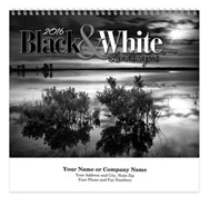 Black and White Spiral Wall Calendar