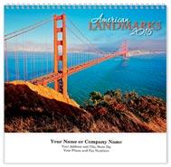 American Landmarks Wall Calendar - Spiraled