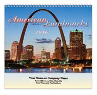 American Landmarks Spiral Wall Calendar