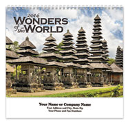 Wonders of the World Spiral Wall Calendar