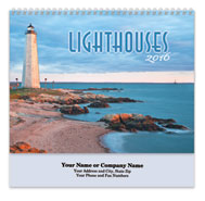 Lighthouses Spiral Wall Calendar
