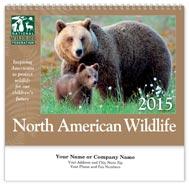 North American Wildlife Wall Calendar - Spiraled
