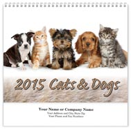 Cats & Dogs Wall Calendar - Spiraled