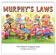 Murphy's Law Wall Calendar - Spiraled