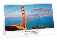 American Landmarks Desk Calendar