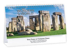 Wonders of the World Desk Calendar